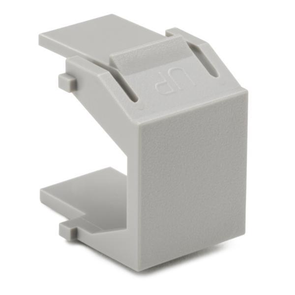 Blank Module, ABS 94V-0, Gray, 10/pkg