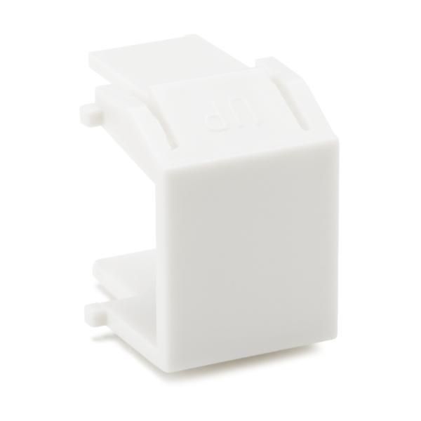 Blank Module, ABS 94V-0, White, 10/pkg