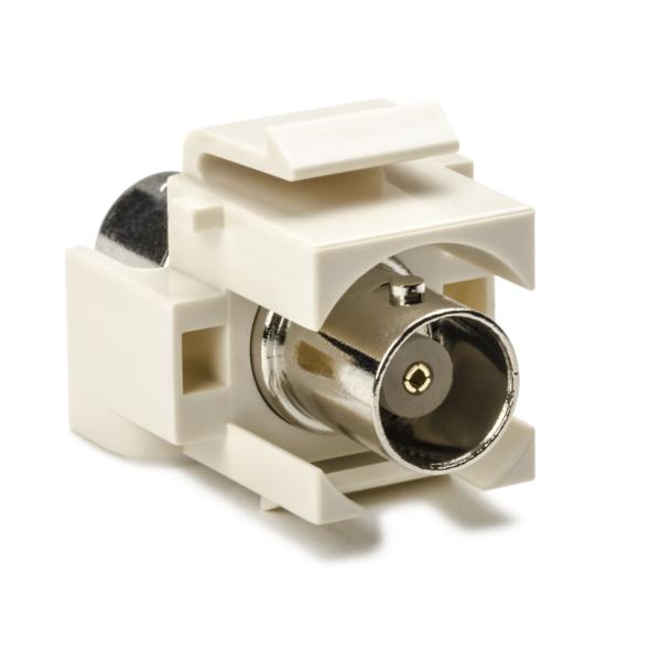 BNC Connector Module, Office White, 1/pkg