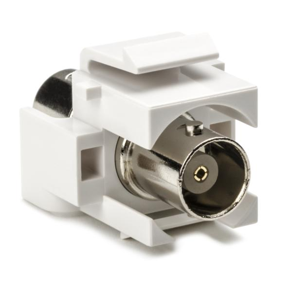 BNC Connector Module, White, 1/pkg