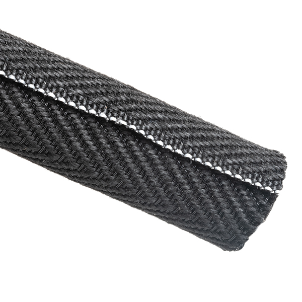 Braided Sleeving, Split Wrap Woven, Flame Retardant, 1-1/4