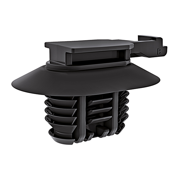 Connector Clip w/Fir Tree, 0.6 - 6.35 mm Panel Thickness, 9.0 x 17.0 mm Hole Dia, PA66HIRHS, Black, 1000/ctn
