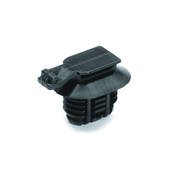 Connector Clip, Mounting Hole Dia. 9.0–17.0mm, PA66HIRHSUV, Black, 5000/carton