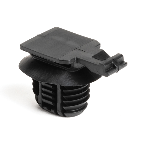 Connector Clip, 17mm, Mounting Hole Dia. 12x17, PA66HIRHSUV, Black, 3000/carton