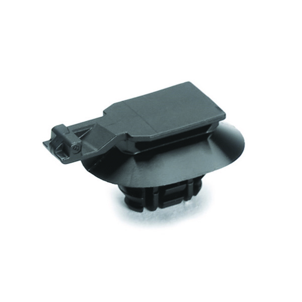 Connector Clip w/Oval Fir Tree, 0.6 - 3.0 mm Panel Thickness, 6.2–13.0mm Mounting Hole, PA66HIRHSUV, Black, 4000/ctn
