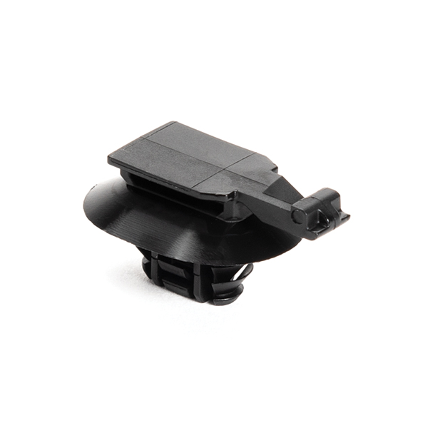 Connector Clip w/Oval Fir Tree, 0.6 - 3.0 mm Panel Thickness, 6.2–13.0mm Mounting Hole, PA66HIRHS, Black, 4000/ctn