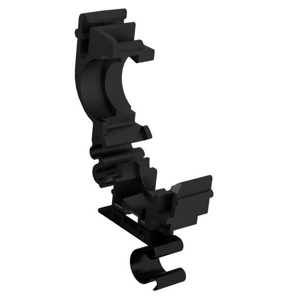 Conduit Clamps, Size 13, Bun. Clip Size 9 , PA66, Black, 1000/carton