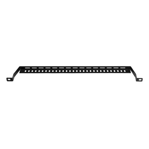 Cable Management Bar, 0U, Steel, Black, 1/bag