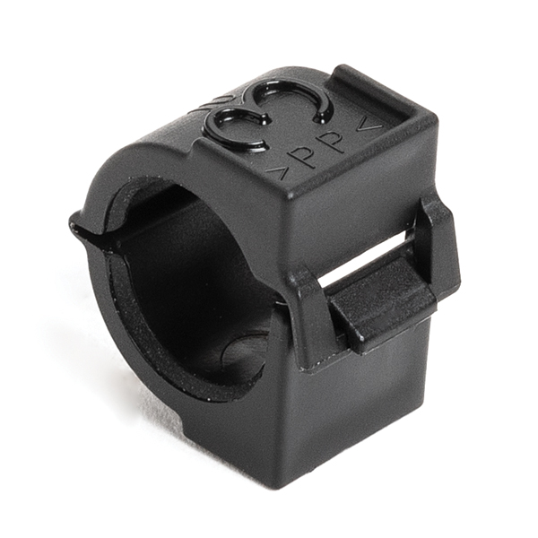 Hinged Convoluted Tubing Endclamp Fitting, 0.38