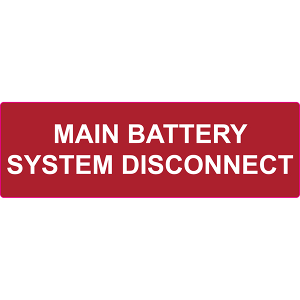 Solar Label, 2017 Code, MAIN BATTERY SYSTEM DISCONNECT, 5.5