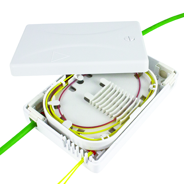 Fiber Distribution Enclosure, Splice Only, White, 1/pkg
