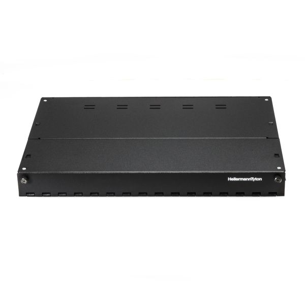 Rack Mount Fiber Enclosure-Unloaded, Accepts 3 LGX Adapter Panels, 1U, Black, 1/pkg