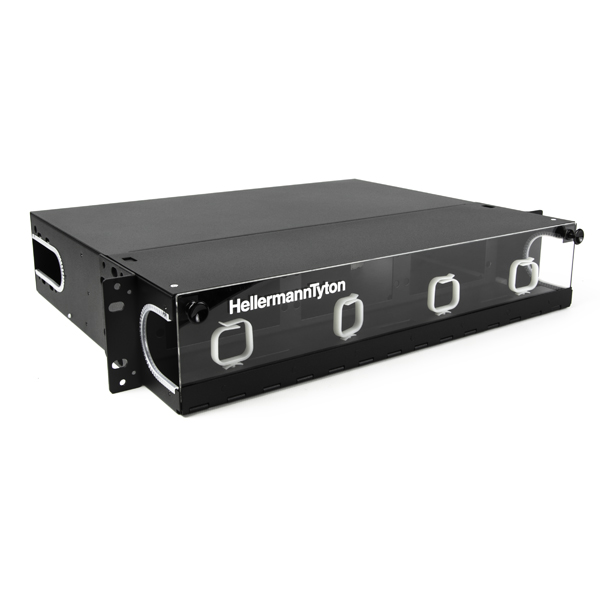 Rack Mount Fiber Enclosure-Unloaded, Accepts 6 LGX Adapter Panels, 2U, Black, 1/pkg