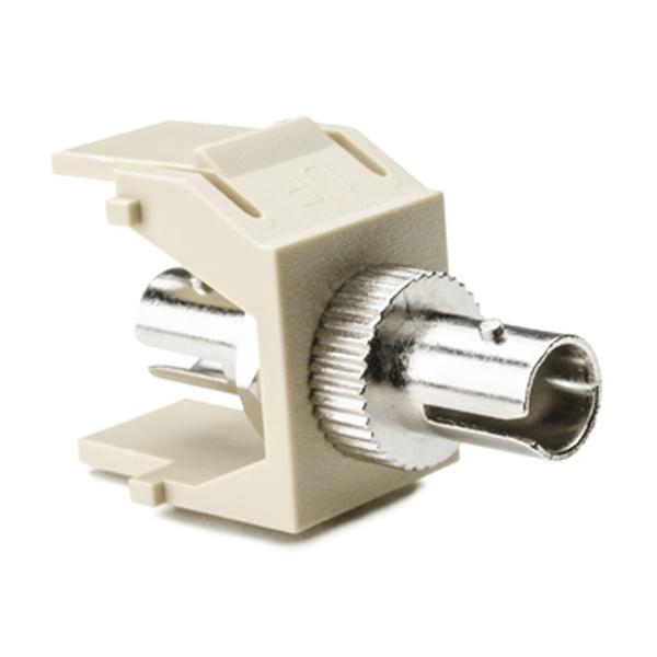 ST Fiber Module, Ivory, 1/pkg