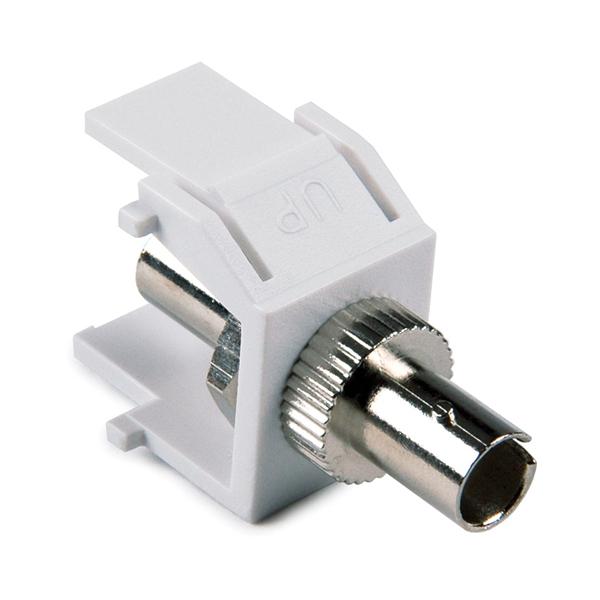 ST Fiber Module, White, 1/pkg