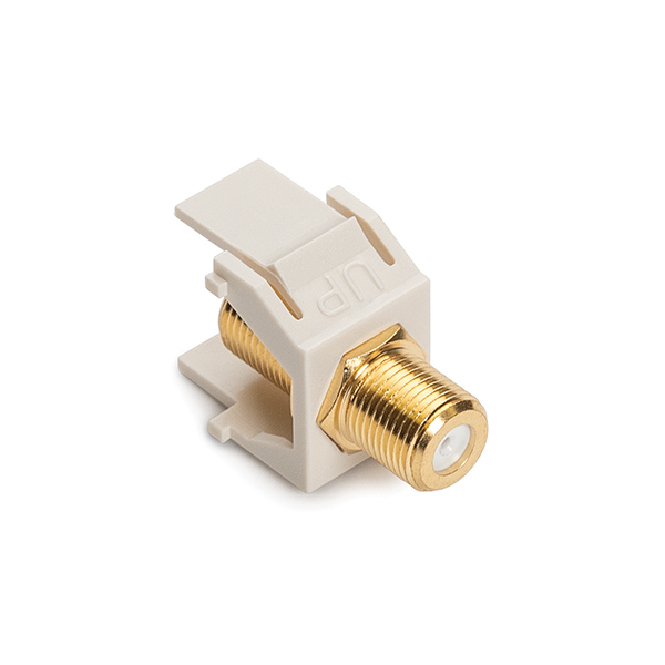 F Connector Module, 3GHz, Office White, 1/pkg
