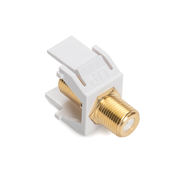 F Connector Module, 3GHz, White, 1/pkg