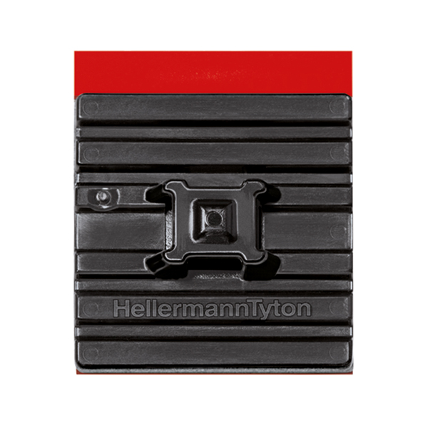 "Flexible Cable Tie Mounting Base, 1.1"" x 1.1"", 0.21"" Max Tie Width, PA66HS, Black, 100/pkg"