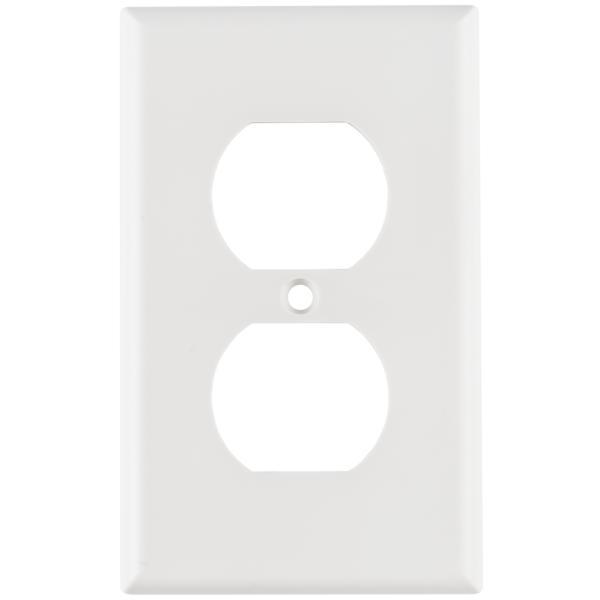 106 Duplex Faceplate, ABS 94V-0, White, 1/pkg