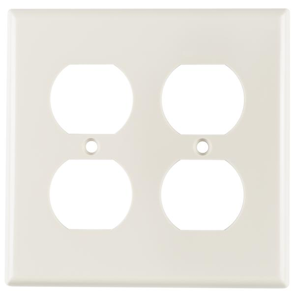 Dual Gang 106 Duplex Faceplate, ABS 94V-0, Office White, 1/pkg