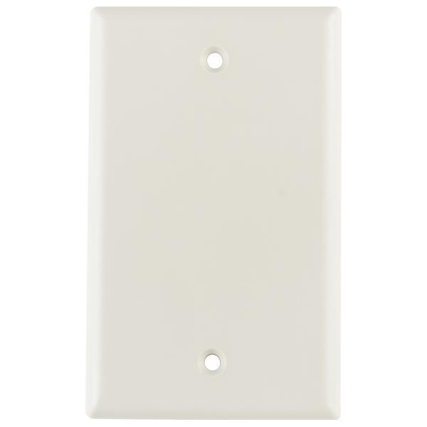 Blank Standard Single Gang, Office White, 1/pkg