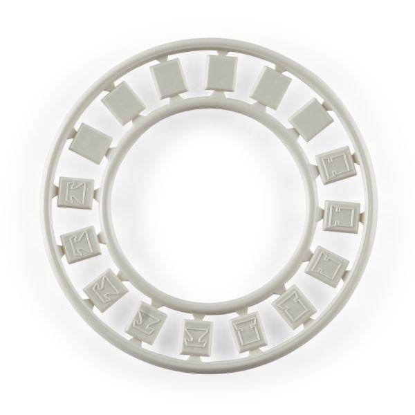 Modular Faceplate Icon Ring, Office White, 6/pkg