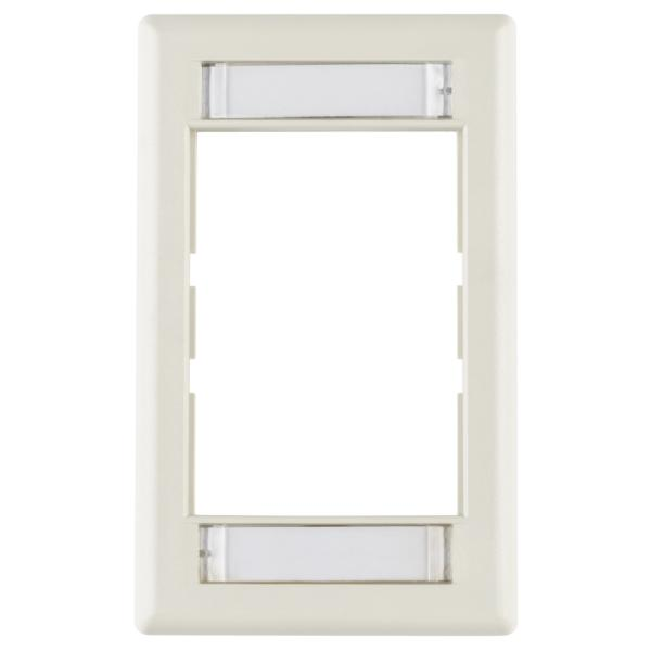 Modular Faceplate, ABS, Office White, 1/pkg