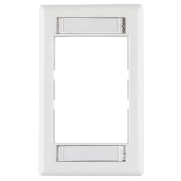 Modular Faceplate, ABS, White, 1/pkg