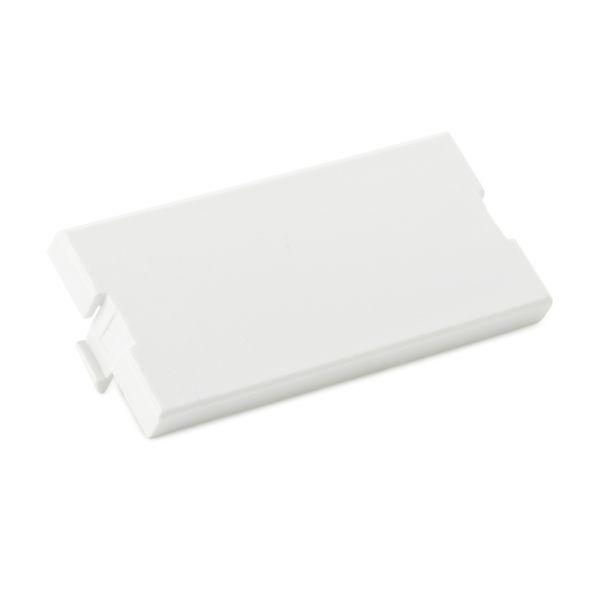 Modular Faceplate Blank Insert, ABS, White, 3/pkg