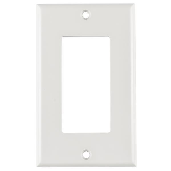 Rectangular Decorator Faceplate, ABS 94V-0, White, 1/pkg