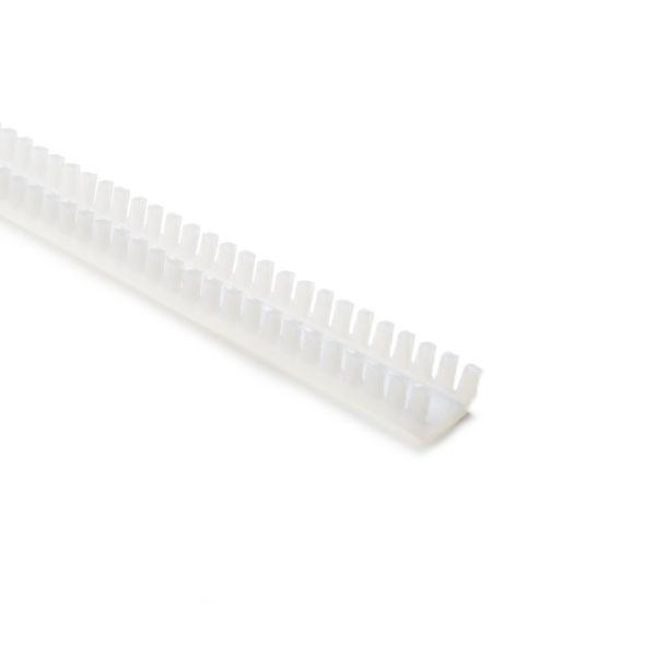 Grommet, Panel Thickness 0.256''-0.319'', PTFE, Natural, 9.7ft/pkg