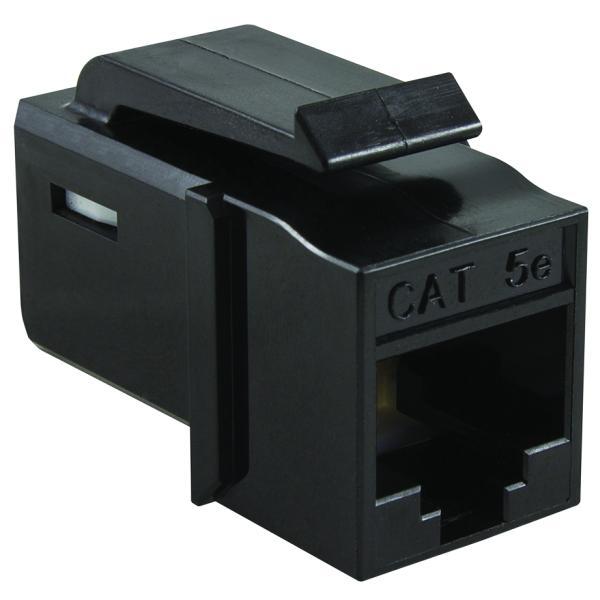 GST Category 5e UTP Modular Keystone Jack, Black, 1/bag