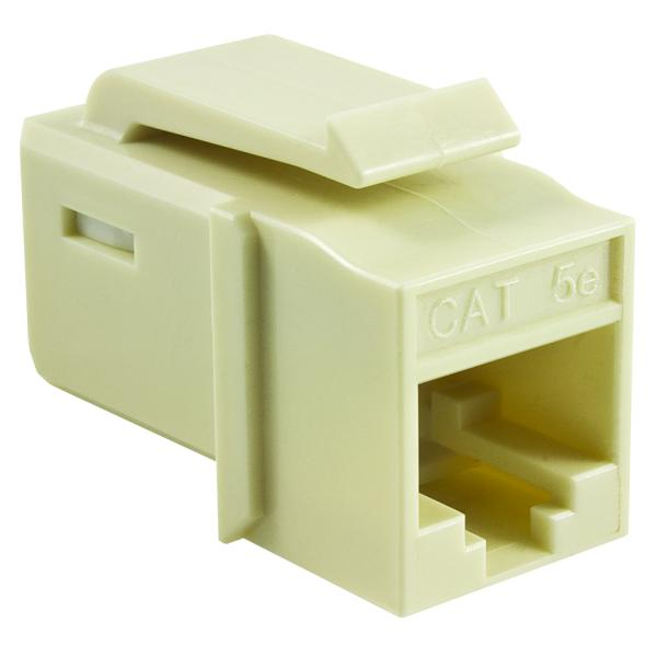 GST Category 5e UTP Modular Keystone Jack, Office White, 1/bag
