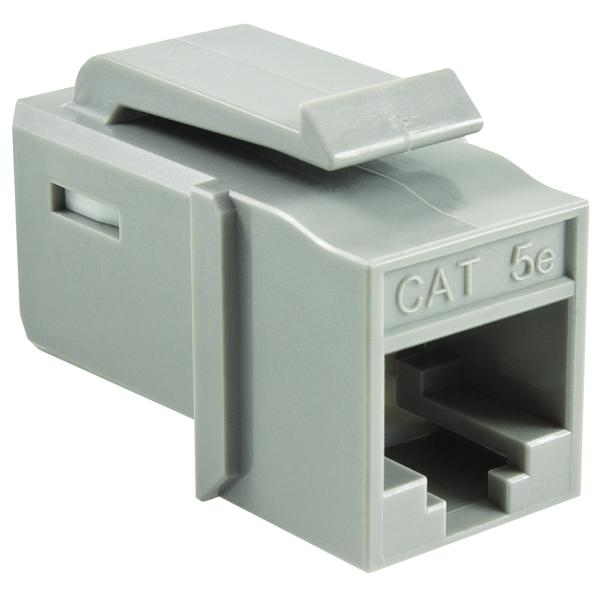 GST Category 5e UTP Modular Keystone Jack, Gray, 1/bag