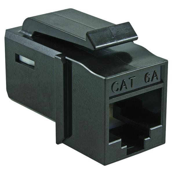 GST Category 6A UTP Modular Keystone Jack, Plenum Rated, Black, 1/bag
