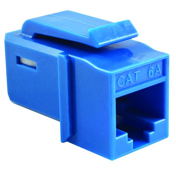GST Category 6A UTP Modular Keystone Jack, Plenum Rated, Blue, 1/pkg