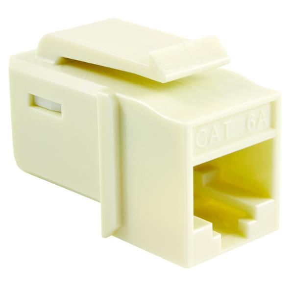 GST Category 6A UTP Modular Keystone Jack, Plenum Rated, Office White, 1/bag