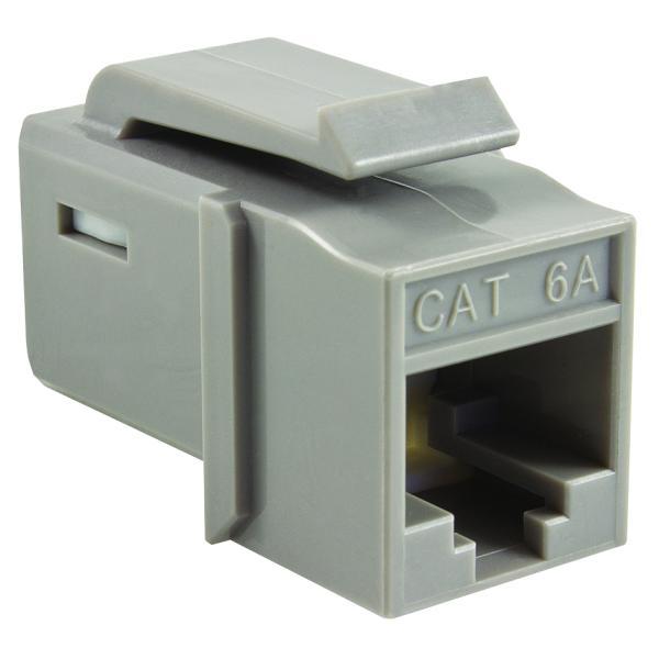 GST Category 6A UTP Modular Keystone Jack, Plenum Rated, Gray, 1/bag