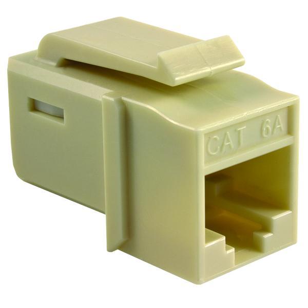 GST Category 6A UTP Modular Keystone Jack, Plenum Rated, Ivory, 1/bag