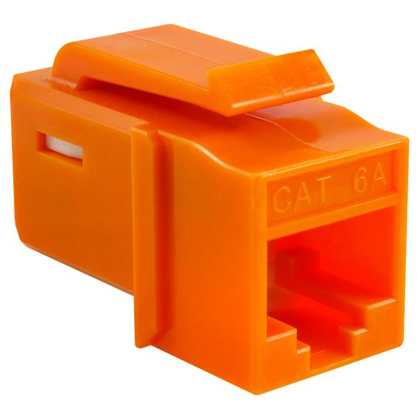 GST Category 6A UTP Modular Keystone Jack, Orange, 1/bag