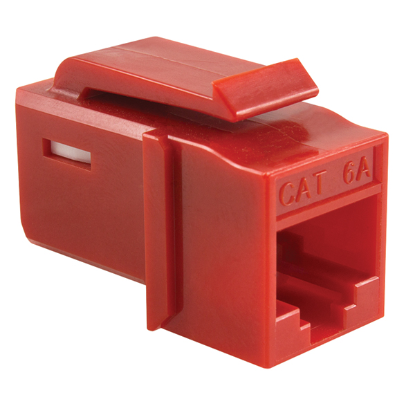 GST Category 6 UTP Modular Keystone Jack, Plenum Rated, Red, 1/bag