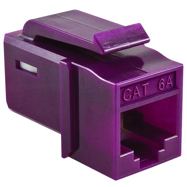 GST Category 6A UTP Modular Keystone Jack, Plenum Rated, Violet, 1/bag