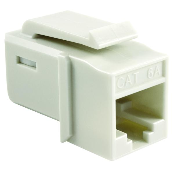 GST Category 6A UTP Modular Keystone Jack, Plenum Rated, White, 1/bag
