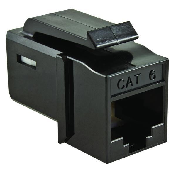 GST Category 6 UTP Modular Keystone Jack, Black, 1/bag