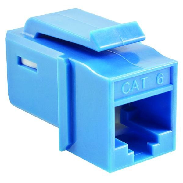 GST Category 6 UTP Modular Keystone Jack, Plenum Rated, Blue, 1/pkg