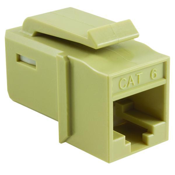 GST Category 6 UTP Modular Keystone Jack, Plenum Rated, Ivory, 1/bag