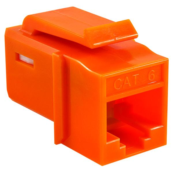GST Category 6 UTP Modular Keystone Jack, Plenum Rated, Orange, 1/bag