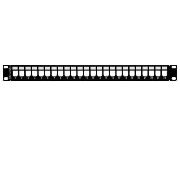 GST Modular Patch Panel 24 Port, 1U, Steel, Black, 1/box