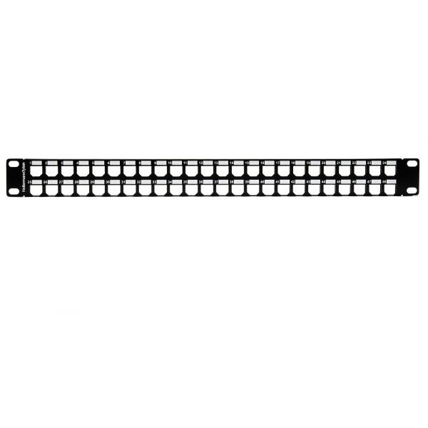 GST Modular Patch Panel 48 Port, 1U, Steel, Black, 1/box