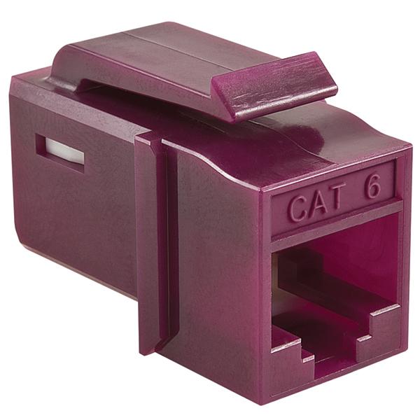 GST Category 6 UTP Modular Keystone Jack, Plenum Rated, Violet, 1/bag